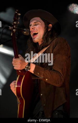 London, UK 16th July 2015. James Bay, Summer Series, Somerset House. © Robert Stainforth/Alamy - Stock Photo