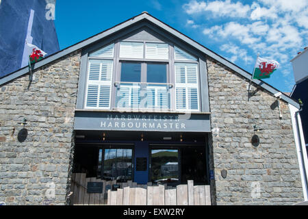 Harbourmaster restaurant.Aberaeron,Ceredigion,Mid West Wales,U.K. - Stock Photo