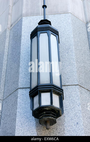 Electric light fixture on wall of a corrugated metal building Stock Photo, Royalty Free Image ...