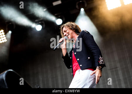 Locarno, Switzerland 12st July, 2015. Gianna Nannini perform live at Moon And Stars © Roberto Finizio/Alamy Live - Stock Photo