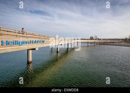 Pier in Heiligenhafen, Schleswig-Holstein, Germany - Stock Photo