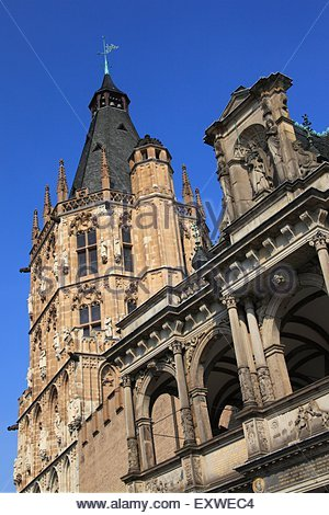 Town hall in the old town, Cologne, Germany - Stock Photo
