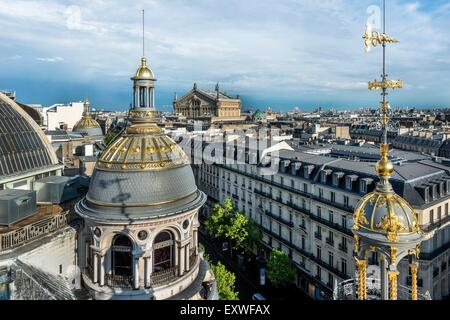 View from the roof top terrace of Printemps, Paris, France, Europe - Stock Photo