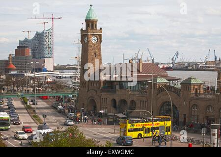 St. Pauli Landing Stages, Hamburg, Germany - Stock Photo