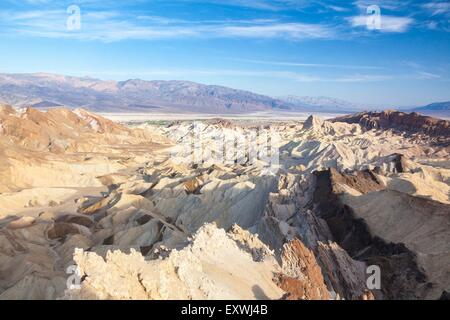 Amargosa and Panamint Range, Zabriskie Point, Death Valley, California, USA - Stock Photo