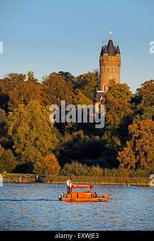 Flatow Tower in Babelsberg park, Potsdam, Brandenburg, Deutschland - Stock Photo