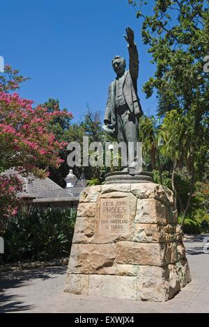 Cecil Rhodes monument in the Company's Garden, Cape Town, South Africa - Stock Photo