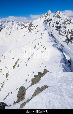 Lasoerling Mountains in winter, Tyrol, Austria - Stock Photo