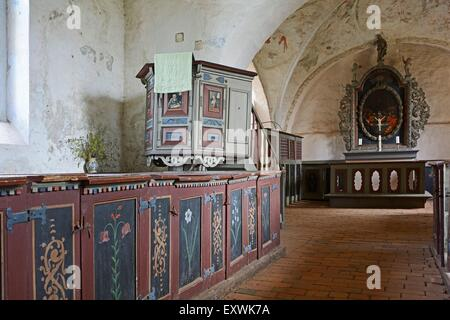 Church, Mellenthin, Usedom, Mecklenburg-Western Pomerania, Germany, Europe - Stock Photo