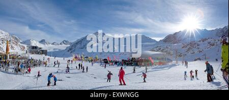 Skiiers in Pitztal, Tyrol, Austria - Stock Photo