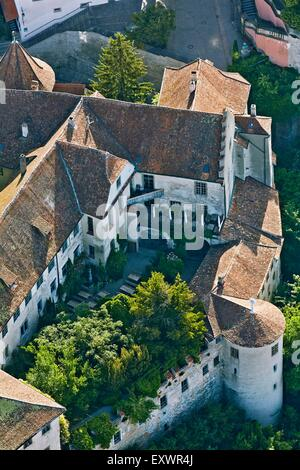 Old Castle, Meersburg at Lake Constance, Baden-Wuerttemberg, Germany - Stock Photo