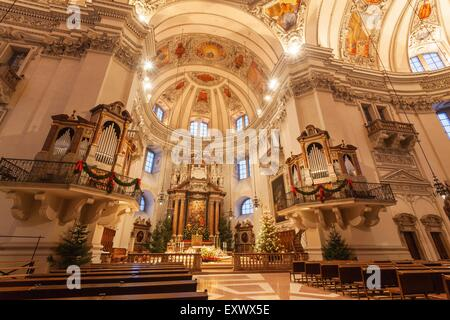 Salzburg cathedral, Salzburg, Austria, Europe - Stock Photo