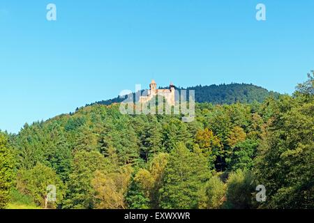 Castle Berwartstein, Erlenbach bei Dahn, Rhineland-Palatinate, Germany, Europe - Stock Photo
