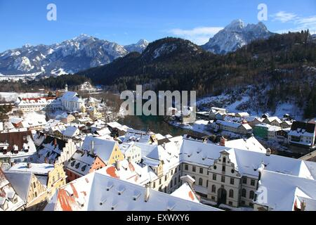 Hohes Schloss, Fuessen, Bavaria, Germany, Europe - Stock Photo