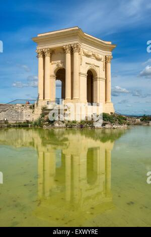 Water tower, Place Royale du Peyrou, Montpellier, France, Europe - Stock Photo