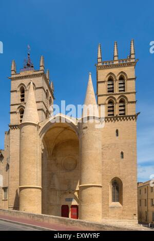 Cathedral Saint-Pierre, Montpellier, Languedoc-Roussillon, France, Europe - Stock Photo