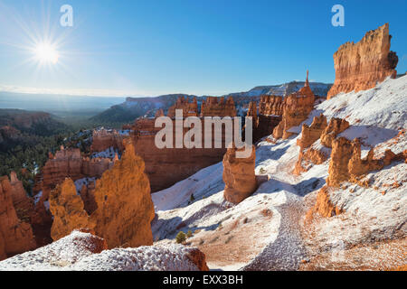 View of winter landscape - Stock Photo