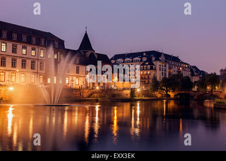 Old town at night - Stock Photo