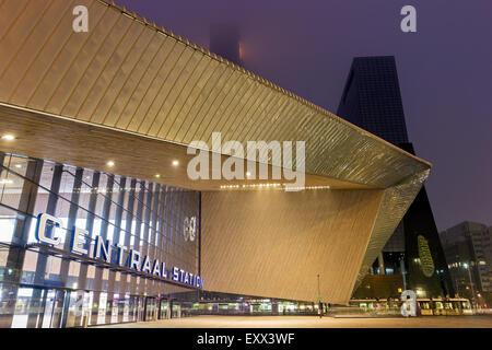 Rotterdam Central railway station - Stock Photo