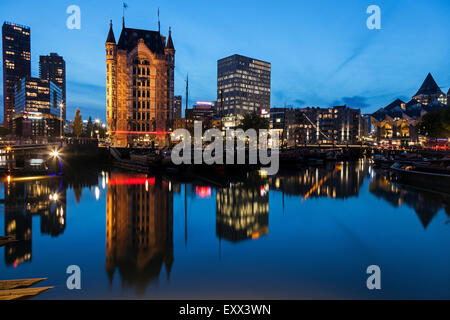 Harbor in old town - Stock Photo