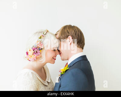 Portrait of newlywed couple - Stock Photo