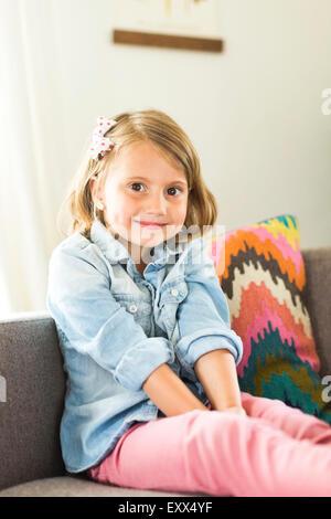 Portrait of little girl (4-5) - Stock Photo