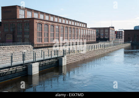 A part of the old cotton mills in Tampere Finland - Stock Photo
