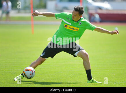 Rottach-Egern, Germany. 17th July, 2015. Gladbach's Josip Drmic in action in a training camp of German Bundesliga - Stock Photo