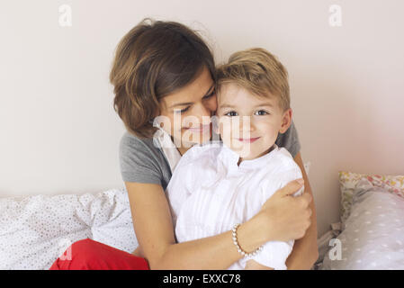 Mother and son, portrait - Stock Photo