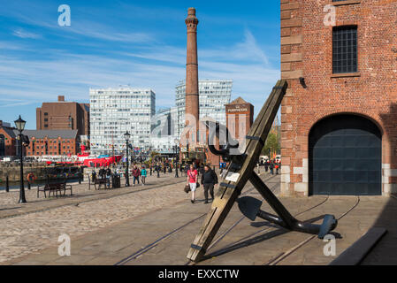 At Albert Dock, Liverpool, Merseyside, England, UK - Stock Photo