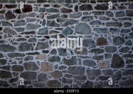 Stone wall background horizontal, stone wall texture - Stock Photo