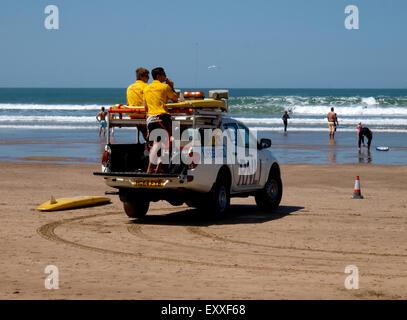 Lifeguards, Woolacombe, Devon, UK - Stock Photo