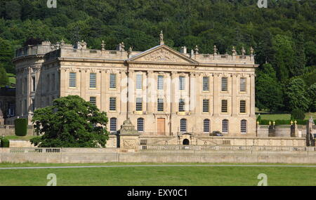 The Derbyshire stately home, Chatsworth house after its facelift, Peak District, Derbyshire England UK - Stock Photo