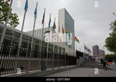NEW YORK - May 27, 2015: The Headquarters of the United Nations is a complex in New York City. The complex has served as the off