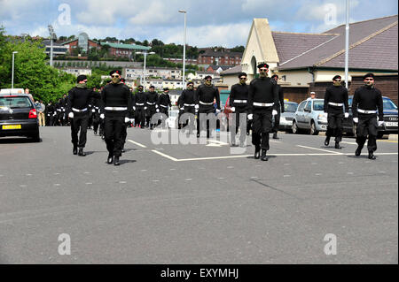 Londonderry, Northern Ireland, UK. 18 July, 2015. Funeral of prominent Irish Republican, Peggy O'Hara. Members of - Stock Photo