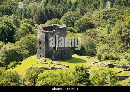 Dolbadarn Castle in Llanberis, Snowdonia. - Stock Photo