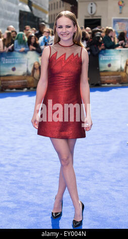 "The European Premiere of ""Tomorrowland: A World Beyond"" held at Odeon Leicester Square - Arrivals  Featuring: Britt - Stock Photo"