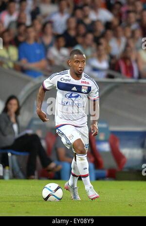 18.07.2015. stade de gerland, Lyon, France, Preseason football friendly, Lyon versus AC Milan. Claudio Beauvue (ol) - Stock Photo