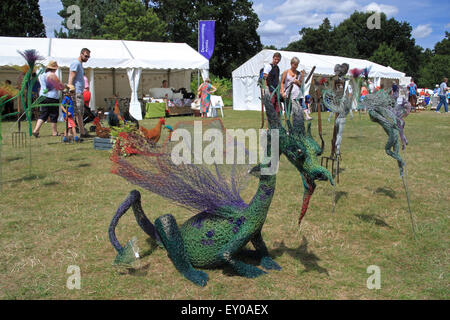 Arts demonstrations at Royal Horticultural Society Arts Fest, RHS Garden Wisley, Woking, Surrey, UK. 18th and 19th - Stock Photo