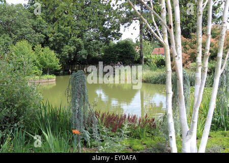 Seven Acres Lake, Royal Horticultural Society Arts Fest, RHS Garden Wisley, Woking, Surrey, UK. 18th and 19th July - Stock Photo