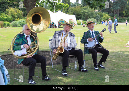 Jazz Magic at Royal Horticultural Society Arts Fest, RHS Garden Wisley, Woking, Surrey, UK. 18th and 19th July 2015. - Stock Photo