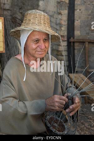 Annual medieval festival of the Mercato delle Gaite, Bevagna, Umbria - Stock Photo