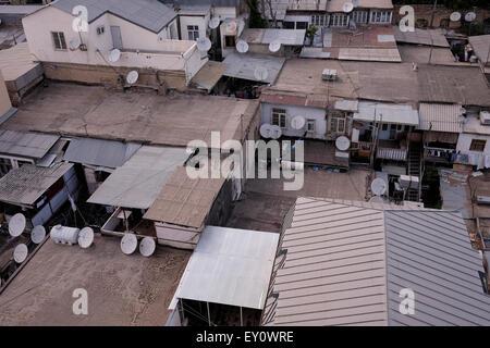 A residential area in the city of Baku capital of Azerbaijan - Stock Photo