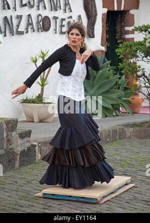 Flamenco dancer at Teguise - Stock Photo