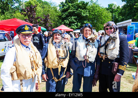 Woodhall Spa, Lincolnshire, UK. 19th July, 2015. 1940's Weekend  World War II the U.S. aviators and the Royal Air - Stock Photo