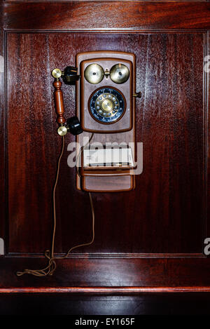 Historic Telephones, The Jefferson Hotel, 101 West Franklin Street, Richmond, Virginia - Stock Photo