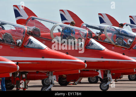 The Red Arrows Cockpit - Stock Photo