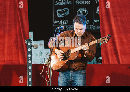 Gateshead, UK - 18th July 2015 - Norrie McCulloch performs on the Sage indoor stage at Summertyne Americana Festival - Stock Photo