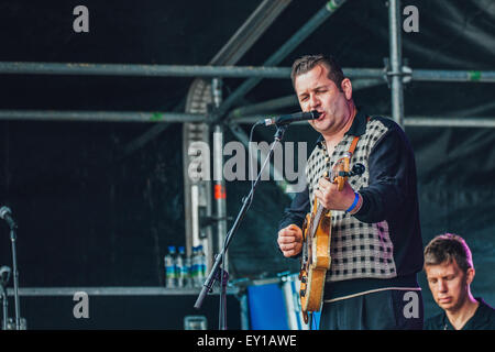 Gateshead, UK - 18th July 2015 - The Real John Lewis performs on the Sage outdoor stage at Summertyne Americana - Stock Photo