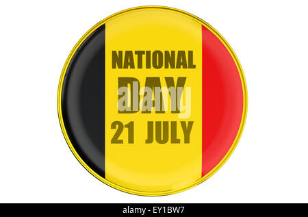 Badge National Day in Belgium - Stock Photo